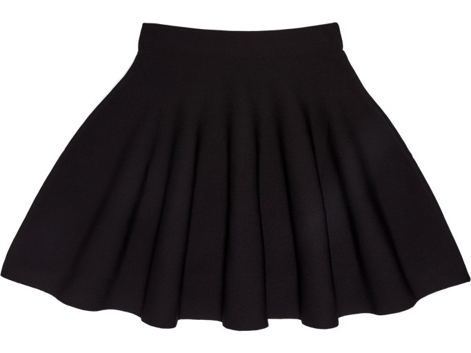 Front Top view of Falda De Mujer, PERFORMANCE BLACK