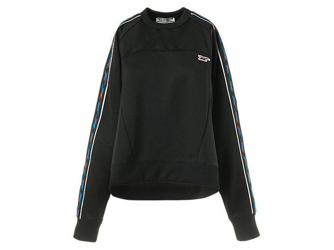 Front Top view of WS TRACK TOP, PERFORMANCE BLACK