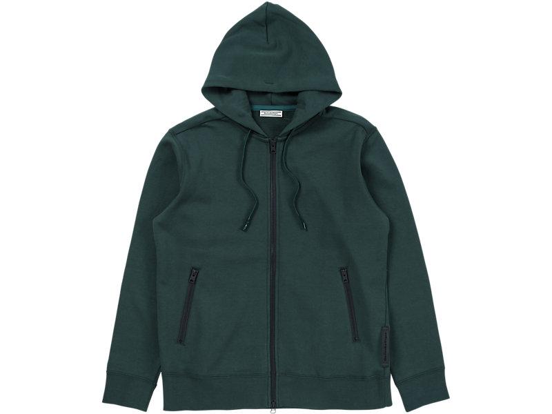 Sweat Zip Hoodie Hunter Green 1 FT