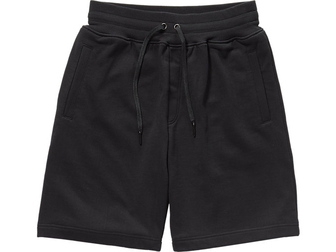 Front Top view of SWEAT SHORT PANT, PERFORMANCE BLACK