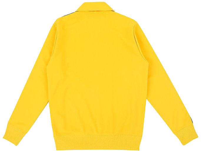 Back view of TRACK TOP, TAI-CHI YELLOW
