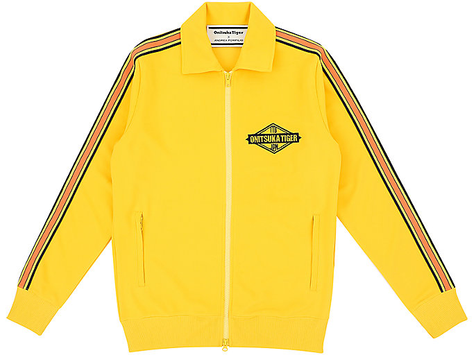 Front Top view of TRACK TOP, TAI-CHI YELLOW