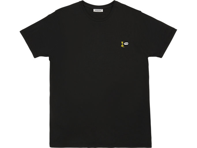 Front Top view of GRAPHIC TEE 3, PERFORMANCE BLACK