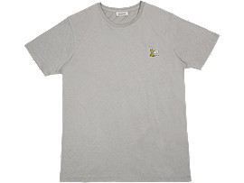 Front Top view of GRAPHIC TEE, STONE GREY
