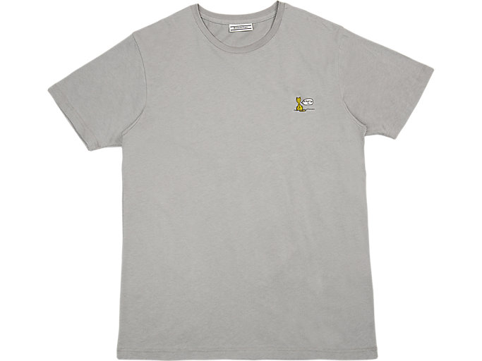 GRAPHIC TEE, STONE GREY