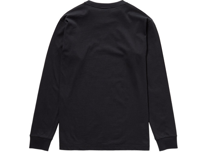 Back view of LS TEE, PERFORMANCE BLACK