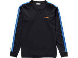 Front Top view of LS TEE, PERFORMANCE BLACK