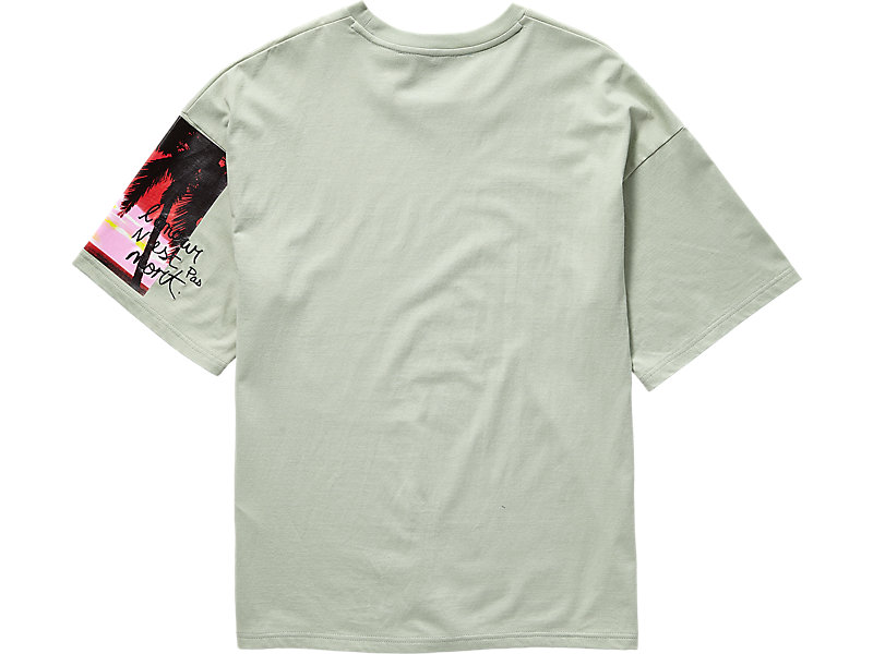 GRAPHIC TEE LIGHT SAGE 5 BK