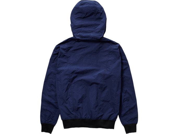 Back view of ZIP UP BOMBER, PEACOAT