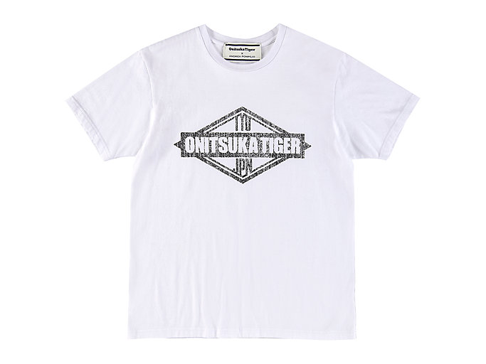 Front Top view of GRAPHIC TEE, REAL WHITE
