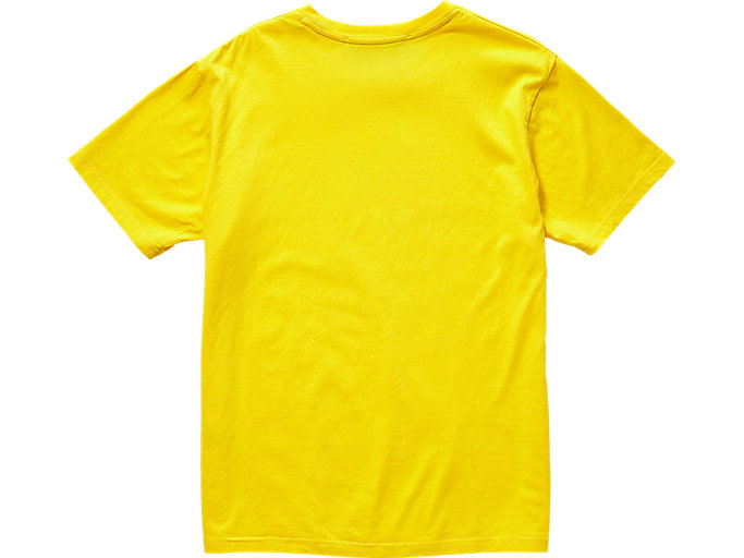 Back view of GRAPHIC TEE, TAI-CHI YELLOW
