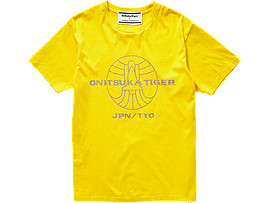 Front Top view of GRAPHIC TEE 3, TAI-CHI YELLOW