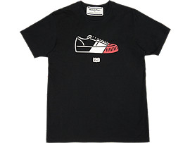 Front Top view of GRAPHIC TEE, PERFORMANCE BLACK