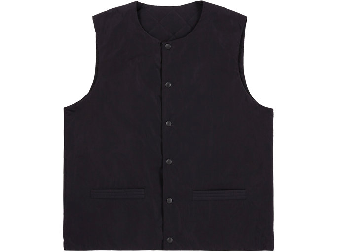 Front Top view of VEST, PERFORMANCE BLACK