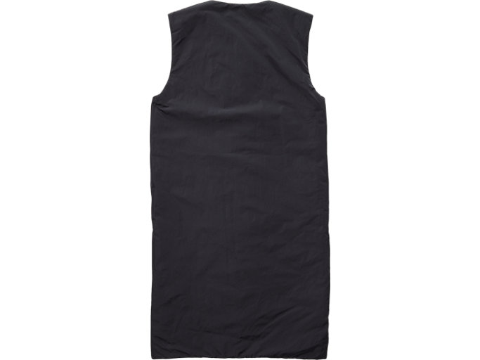 Back view of LONG VEST, PERFORMANCE BLACK