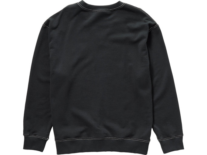 Back view of SWEAT TOP, PERFORMANCE BLACK