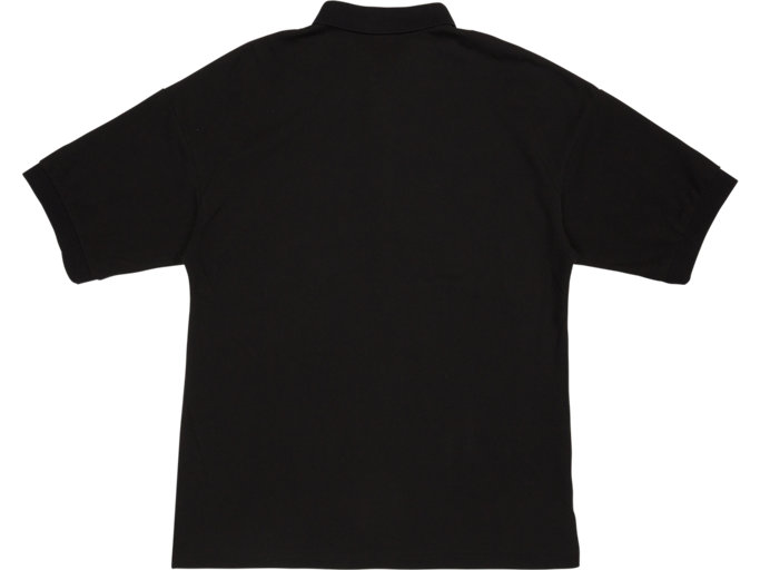 Back view of POLO SHIRT, PERFORMANCE BLACK