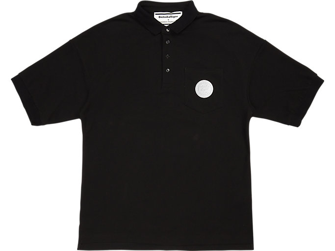 Front Top view of POLO SHIRT, PERFORMANCE BLACK