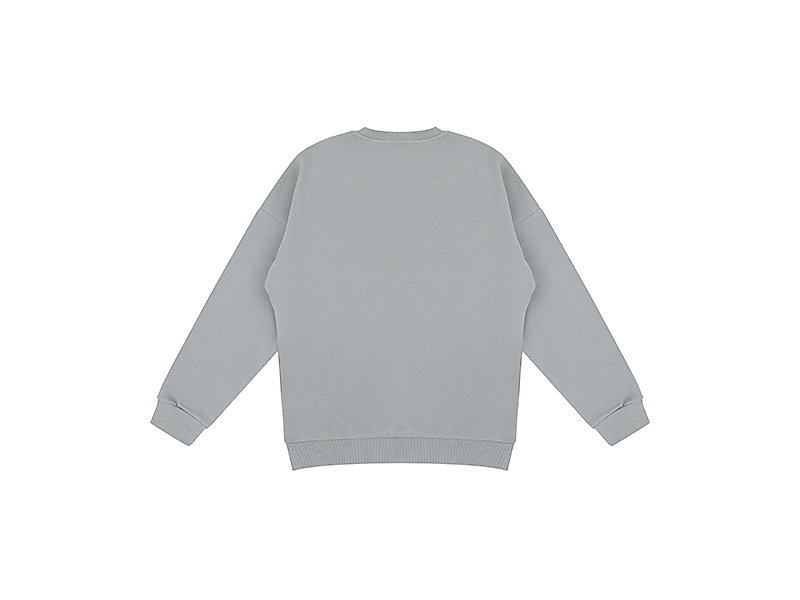 BIG PRINTED SWEAT STONE GREY 5 BK