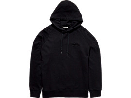 Front Top view of SWEAT HOODIE, PERFORMANCE BLACK