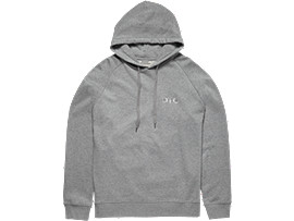 Front Top view of SWEAT HOODIE, STONE GREY