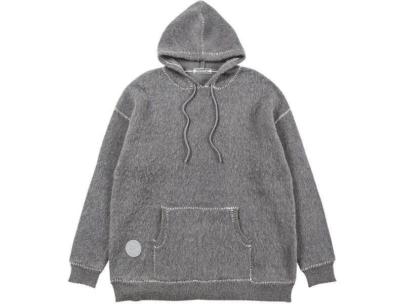 LONG KNIT HOODIE MID GREY 1 FT