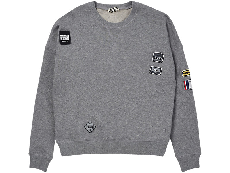 PATCH PULL-OVER MID GREY 1 FT