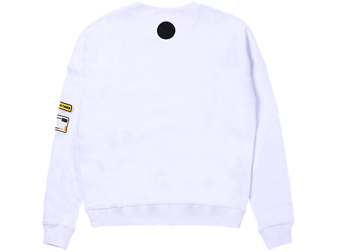 Back view of PATCH PULL-OVER, REAL WHITE
