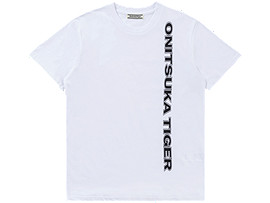 Front Top view of LOGO TEE, REAL WHITE/PERFORMANCE BLACK