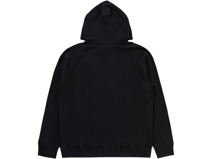 Back view of LOGO HOODIE, PERFORMANCE BLACK