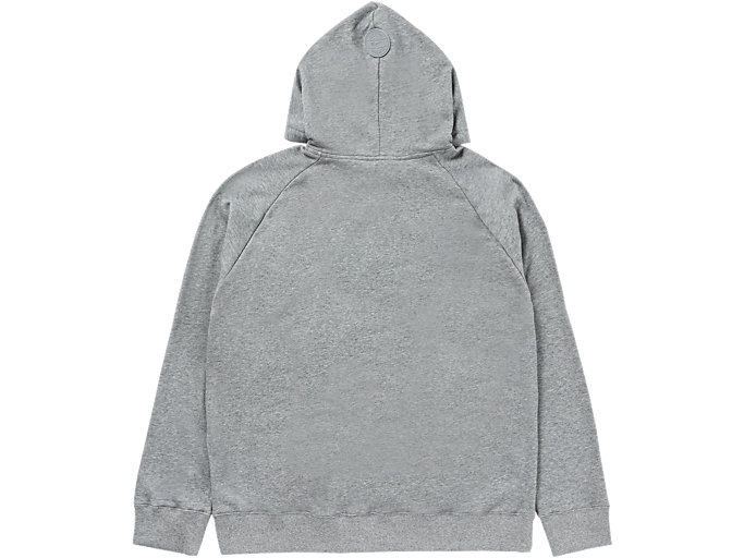 Back view of LOGO HOODIE, MID GREY