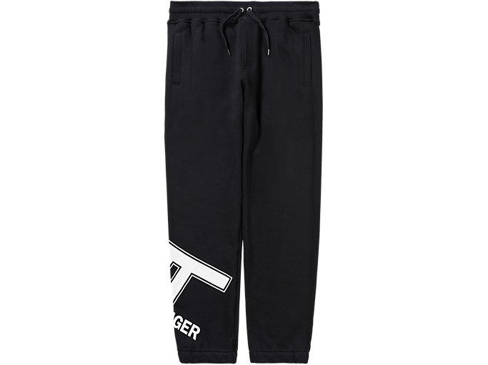 Front Top view of LOGO PANT, PERFORMANCE BLACK
