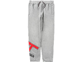 Front Top view of LOGO PANT, MID GREY