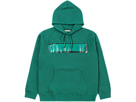 Front Top view of WASHED HOODIE, GREEN