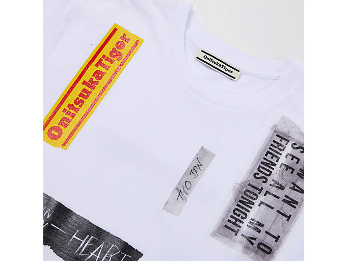 Alternative image view of COLLAGE TEE, REAL WHITE