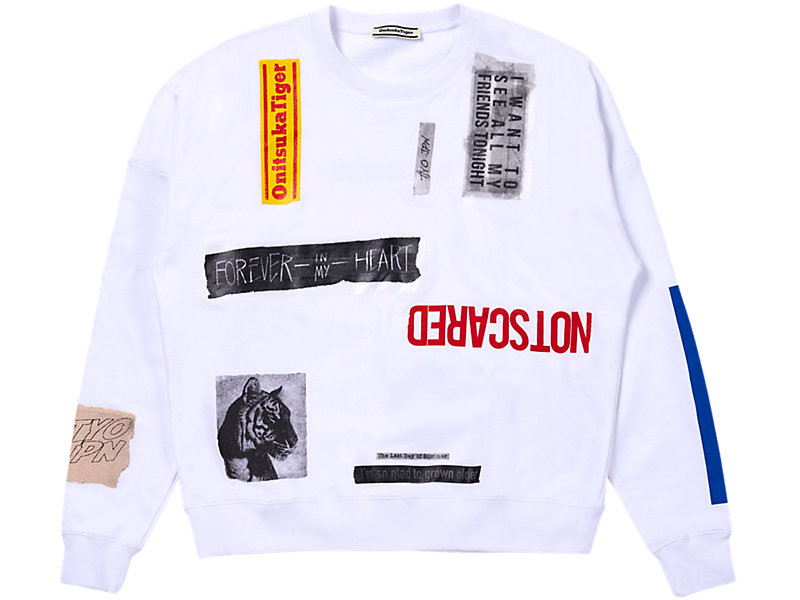 COLLAGE PULL-OVER WHITE 1 FT