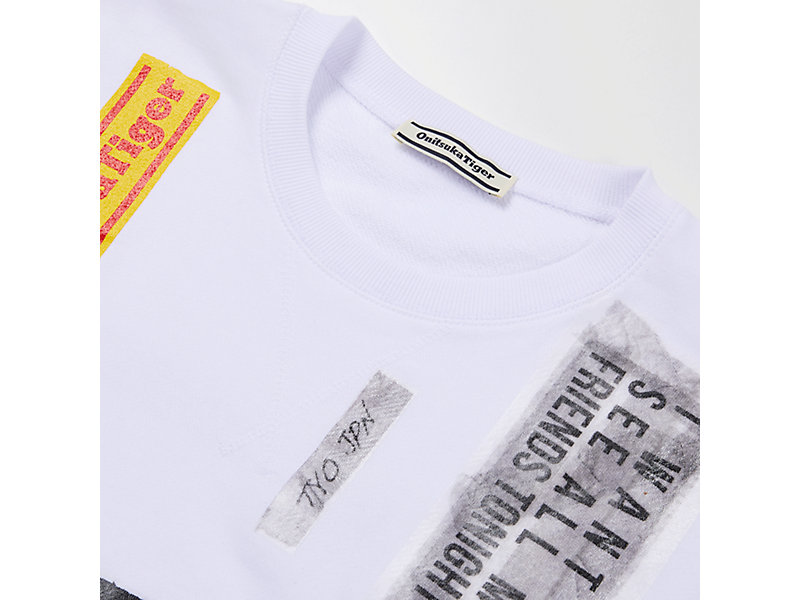 COLLAGE PULL-OVER WHITE 9 Z