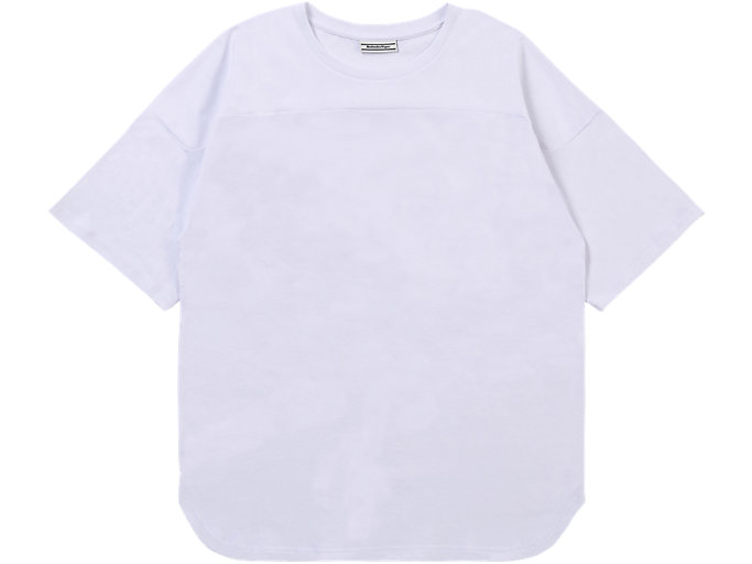 Front Top view of TEE, REAL WHITE