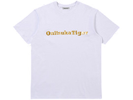 Front Top view of LOGO TEE, REAL WHITE/RICH GOLD