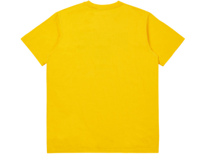 Back view of WASHED GRAPHIC TEE, YELLOW