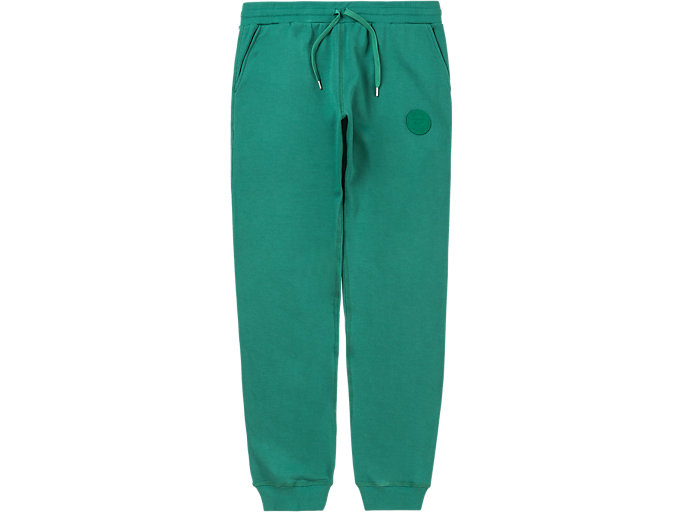 Front Top view of SWEAT PANT, GREEN
