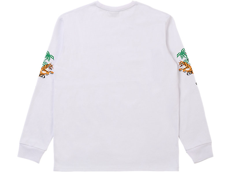 LONG SLEEVED GRAPHIC TEE WHITE 5 BK