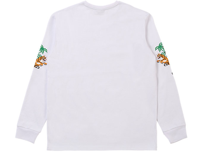 Back view of LS GRAPHIC TEE, REAL WHITE