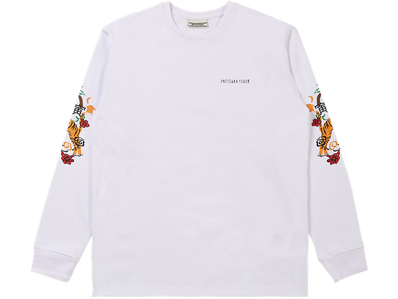 LONG SLEEVED GRAPHIC TEE WHITE 1 FT