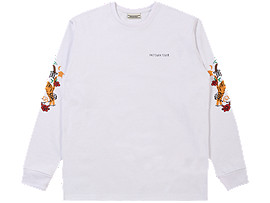 Front Top view of LS GRAPHIC TEE, REAL WHITE