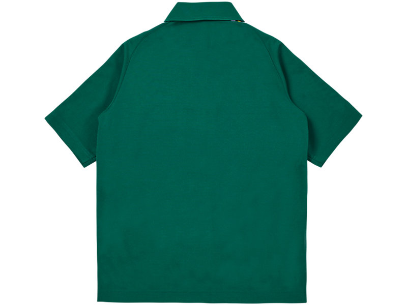 Short Sleeve Track Top GREEN 5 BK