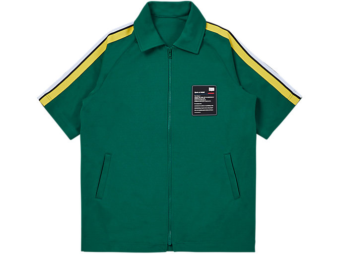 Front Top view of SS TRACK TOP, GREEN