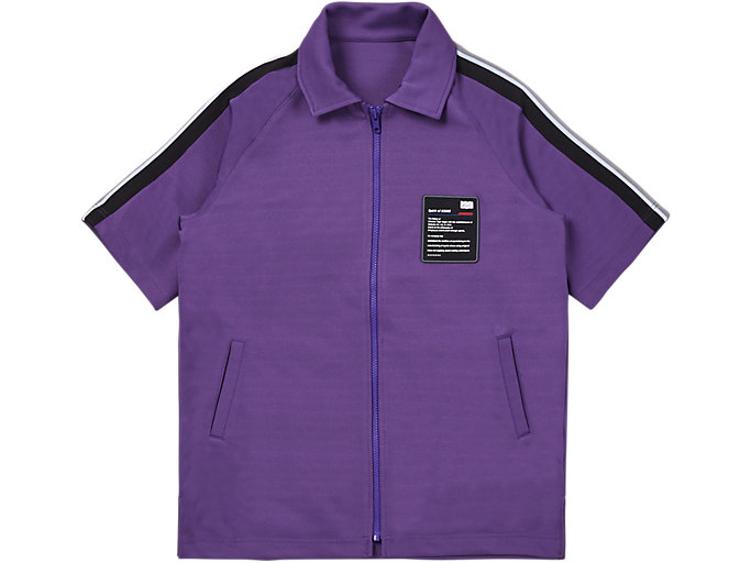 Front Top view of SS TRACK TOP, VIOLET