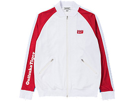 Front Top view of TRACK TOP, FIERY RED