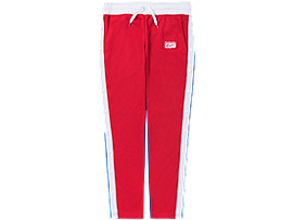 Front Top view of TRACK PANT, FIERY RED